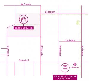 Plan du quartier nourricier - La serre Emily-de-Witt